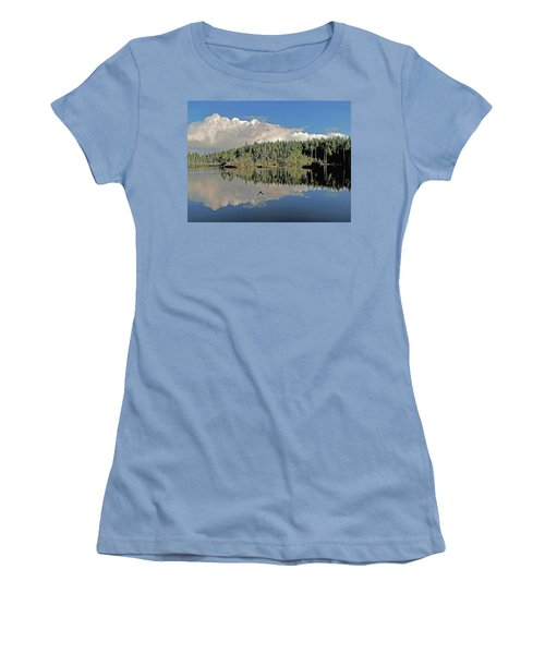 Women's T-Shirt (Junior Cut) featuring the photograph Pause And Reflect by Suzy Piatt