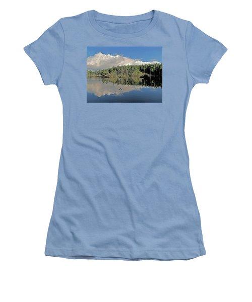 Pause And Reflect Women's T-Shirt (Junior Cut) by Suzy Piatt