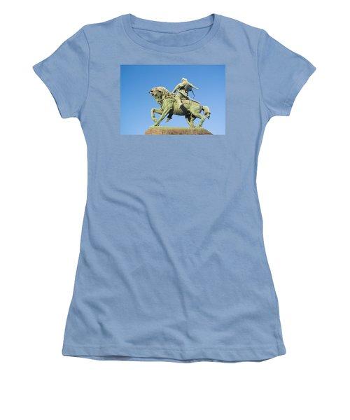 Women's T-Shirt (Junior Cut) featuring the photograph Salavat Yulaev Ufa Russian Hero by John Williams