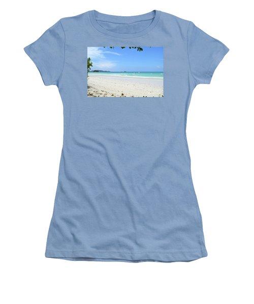 Women's T-Shirt (Junior Cut) featuring the digital art Seychelles Islands 2 by Eva Kaufman