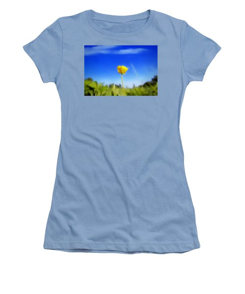 Solitary Flower Women's T-Shirt (Athletic Fit)