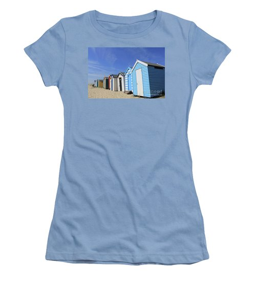 Southwold Beach Huts Women's T-Shirt (Athletic Fit)
