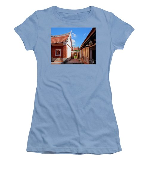 Women's T-Shirt (Athletic Fit) featuring the photograph The Fongyi Imperial Academy In Taiwan by Yali Shi