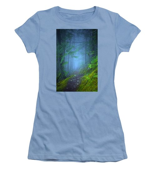 Women's T-Shirt (Junior Cut) featuring the photograph The Forest Blues by Tara Turner
