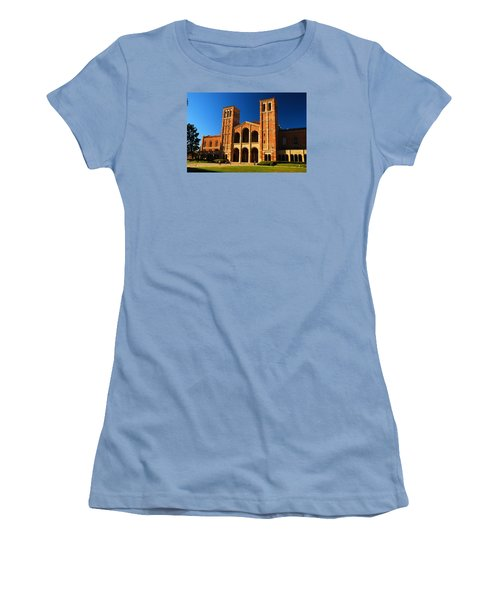Women's T-Shirt (Junior Cut) featuring the photograph Ucla by James Kirkikis