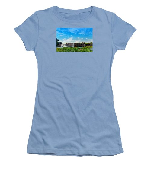 waterfalls Draynur Women's T-Shirt (Athletic Fit)