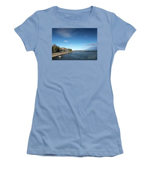 Waterside Restaurant Cafe In Famous Kaivopuisto Park Helsinki Fi Women's T-Shirt (Athletic Fit)