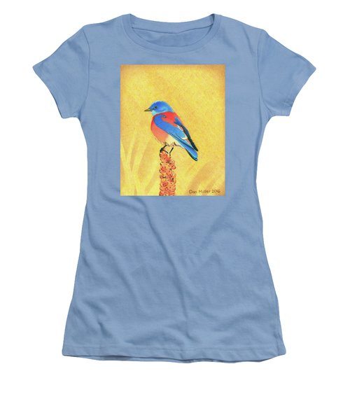 Western Bluebird Women's T-Shirt (Athletic Fit)
