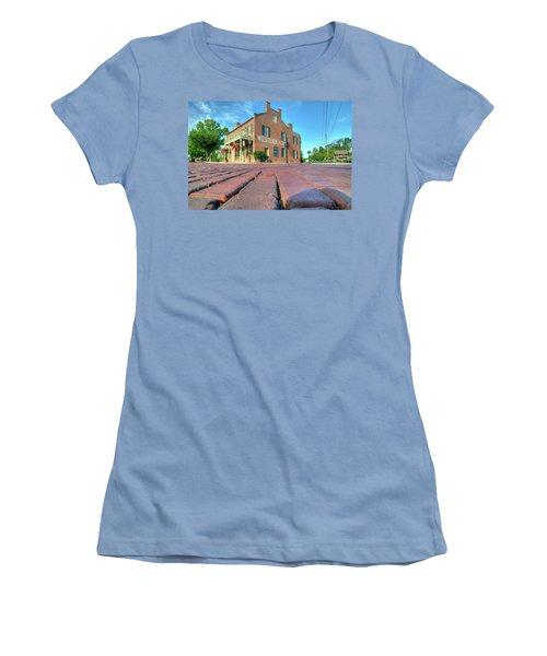 Western House Women's T-Shirt (Junior Cut) by Steve Stuller