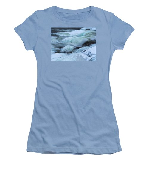 Winter Waterfall Women's T-Shirt (Athletic Fit)
