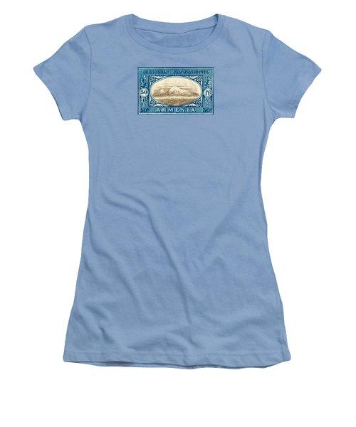 1920 Armenian Mount Ararat Stamp Women's T-Shirt (Junior Cut) by Historic Image