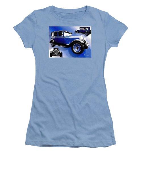 1927 Packard 526 Sedan Women's T-Shirt (Junior Cut) by Sadie Reneau