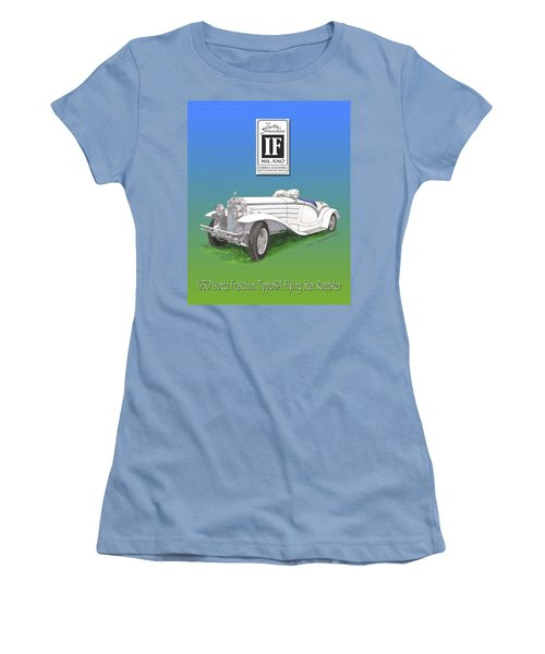 1930 Isotta Fraschini Tippo 8 A Flying Star Roadster Women's T-Shirt (Junior Cut) by Jack Pumphrey