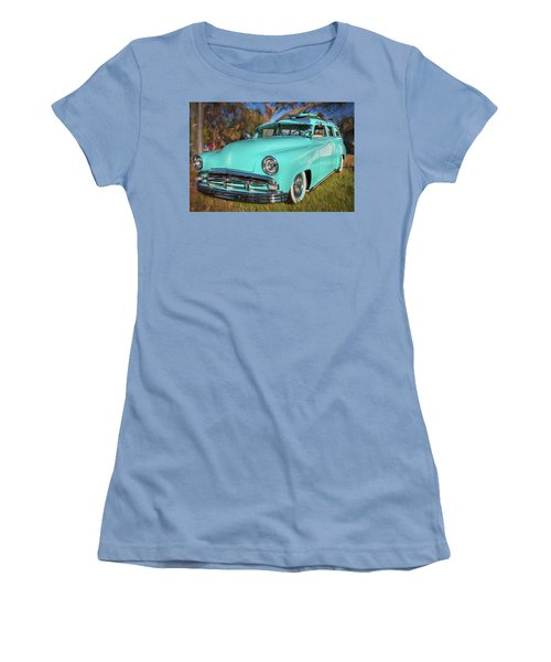 1951 Plymouth Suburban 2 Door Station Wagon 001 Women's T-Shirt (Athletic Fit)