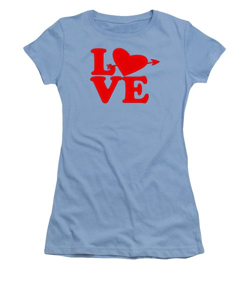 Women's T-Shirt (Junior Cut) featuring the drawing Love by Bill Cannon