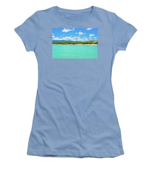 Tortuga Bay Beach At Santa Cruz Island In Galapagos  Women's T-Shirt (Junior Cut) by Marek Poplawski