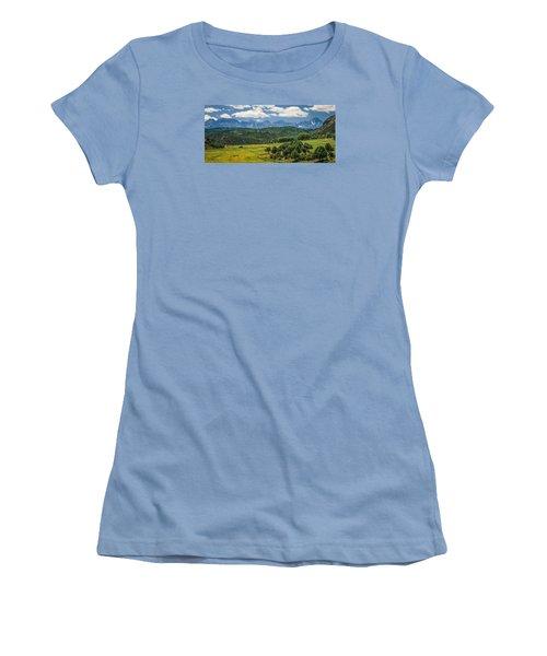 #2918 - Sneffles Range, Colorado Women's T-Shirt (Athletic Fit)