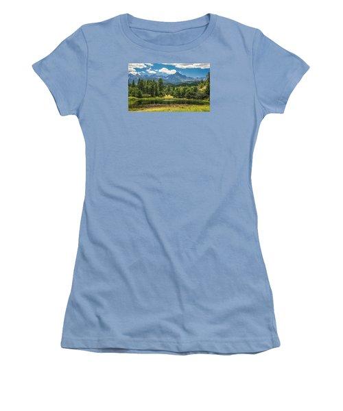 #2933 - Sneffles Range, Colorado Women's T-Shirt (Athletic Fit)