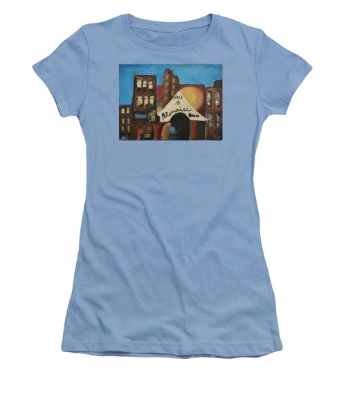 Women's T-Shirt (Junior Cut) featuring the painting Nye's Polonaise Room by Susan Stone
