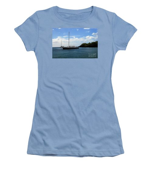 Women's T-Shirt (Athletic Fit) featuring the photograph Sail Boat by Gary Wonning