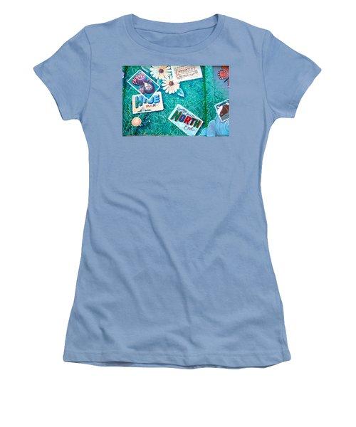 Wall Graffiti Art Women's T-Shirt (Athletic Fit)