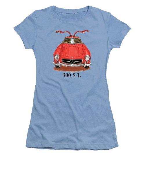 300 Sl Mercedes Benz 1955 Women's T-Shirt (Junior Cut) by Jack Pumphrey