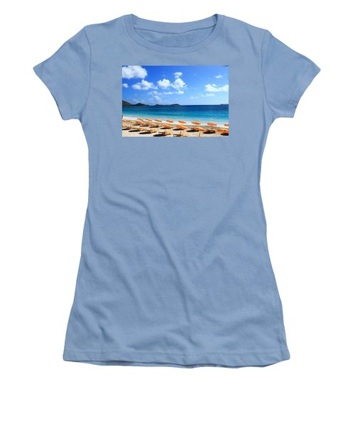 Beach Umbrellas Women's T-Shirt (Junior Cut) by Catie Canetti