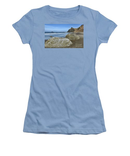 Women's T-Shirt (Athletic Fit) featuring the photograph Roads End by Peggy Hughes