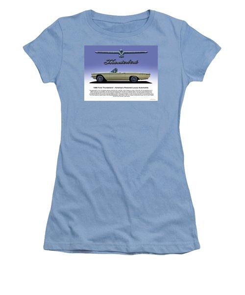 Women's T-Shirt (Junior Cut) featuring the digital art 66 T-bird Display Piece by Douglas Pittman