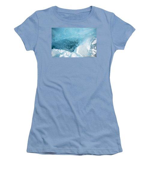 Women's T-Shirt (Junior Cut) featuring the photograph Iceland by Milena Boeva
