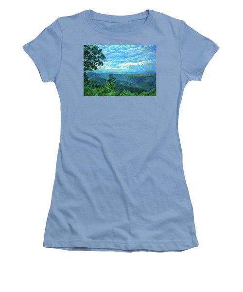A Break In The Clouds Women's T-Shirt (Junior Cut) by Kendall Kessler