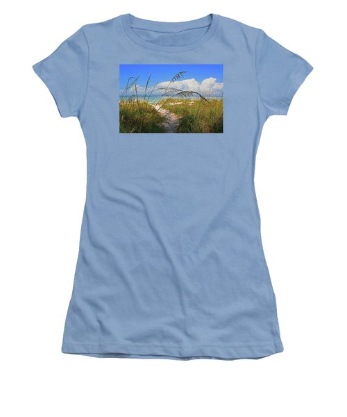 A Day At The Beach Women's T-Shirt (Athletic Fit)