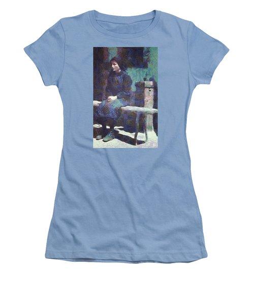 A Moment Of Meditation Women's T-Shirt (Junior Cut) by Gun Legler