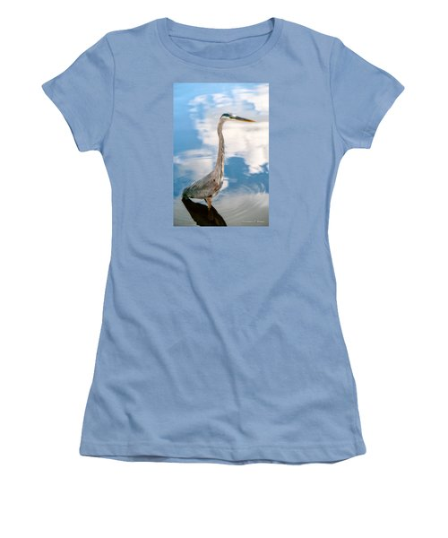 Women's T-Shirt (Junior Cut) featuring the photograph A Stroll Among The Clouds by Christopher Holmes