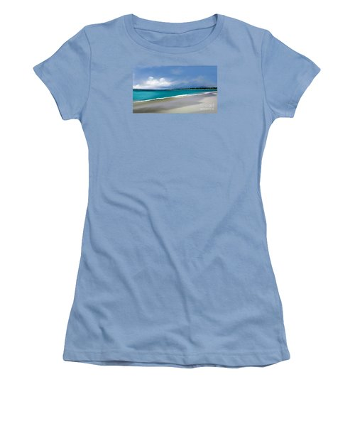 Women's T-Shirt (Junior Cut) featuring the digital art A Summer Day by Anthony Fishburne