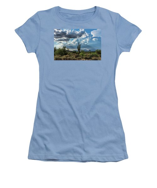 Women's T-Shirt (Athletic Fit) featuring the photograph A Summer Day In The Sonoran  by Saija Lehtonen