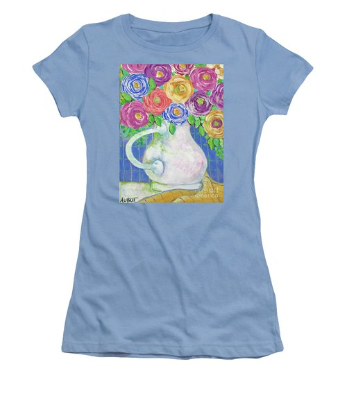 A Vase Full Of Happiness Women's T-Shirt (Junior Cut) by Rosemary Aubut