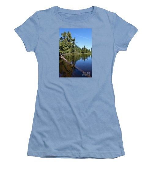 Women's T-Shirt (Junior Cut) featuring the photograph A View From My Kayak by Sandra Updyke