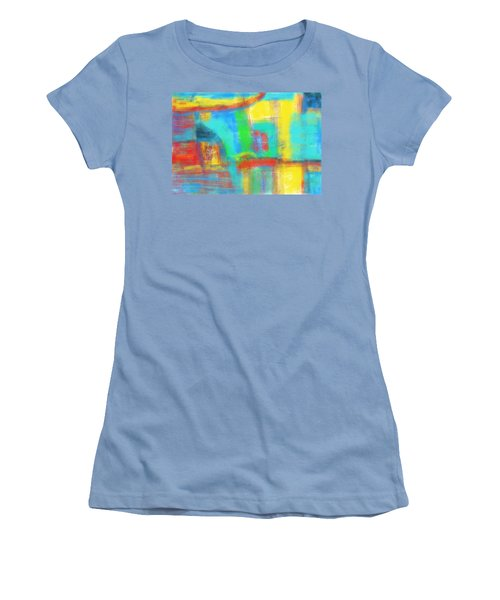Women's T-Shirt (Junior Cut) featuring the painting A Yellow Day by Susan Stone