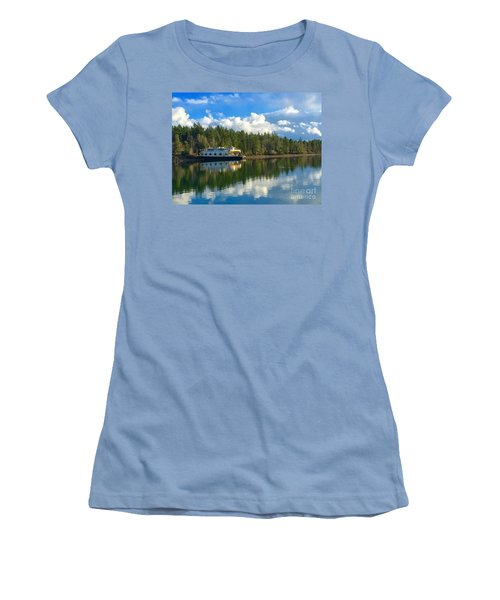 Abandoned Ferry Women's T-Shirt (Junior Cut) by Sean Griffin