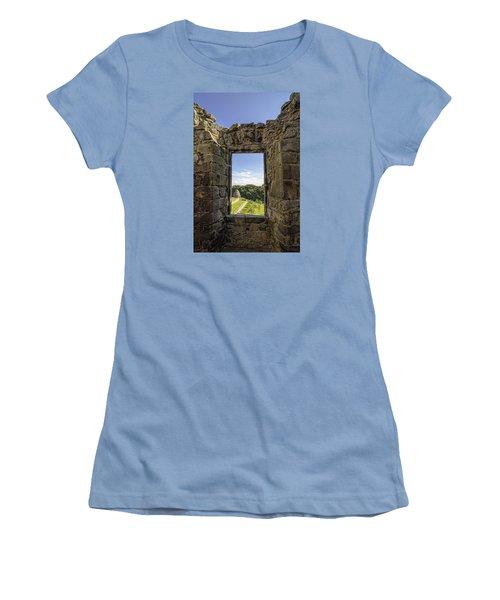 Women's T-Shirt (Junior Cut) featuring the photograph Aberdour Castle by Jeremy Lavender Photography