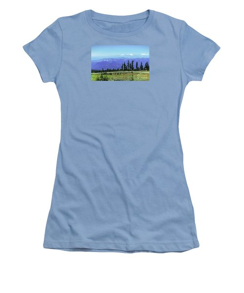 Women's T-Shirt (Junior Cut) featuring the photograph Above The Smoke by Nancy Marie Ricketts