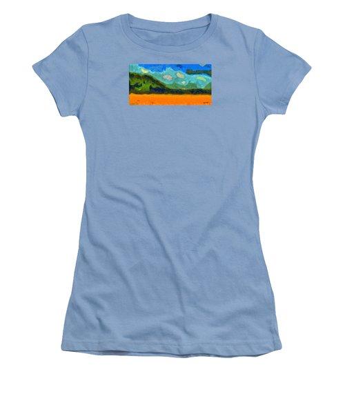 Above The Woods Women's T-Shirt (Junior Cut) by Spyder Webb