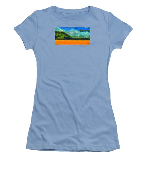 Above The Woods Women's T-Shirt (Athletic Fit)
