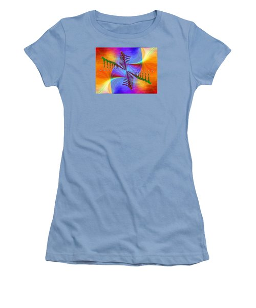 Women's T-Shirt (Junior Cut) featuring the digital art Abstract Cubed 372 by Tim Allen