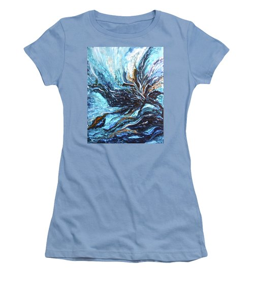 Abstract Water Dragon Women's T-Shirt (Athletic Fit)