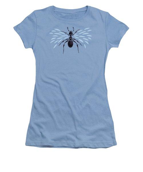 Abstract Winged Ant Women's T-Shirt (Junior Cut) by Boriana Giormova