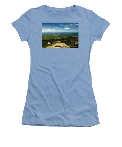 Acadia Women's T-Shirt (Junior Cut) by Raymond Earley
