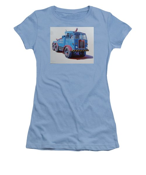 Women's T-Shirt (Junior Cut) featuring the painting Aec Militant Lloyds by Mike Jeffries