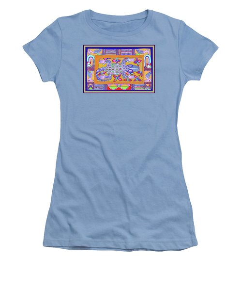 Women's T-Shirt (Athletic Fit) featuring the digital art African Croc Beach Bum by Vagabond Folk Art - Virginia Vivier